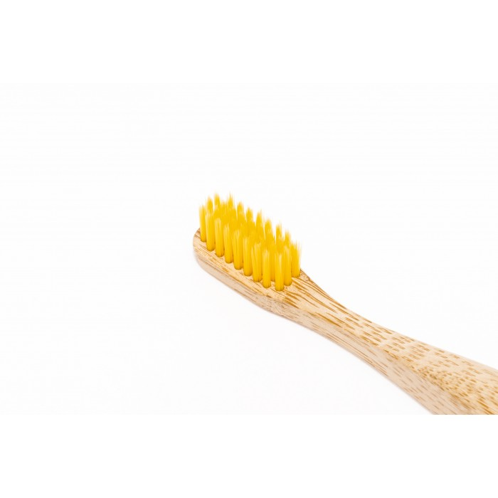 Nordics Periuta de dinti Yellow, din bambus